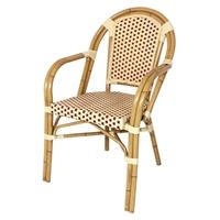 Kunstof Rotan stoel met armleuning/ 2 kleuren (4)