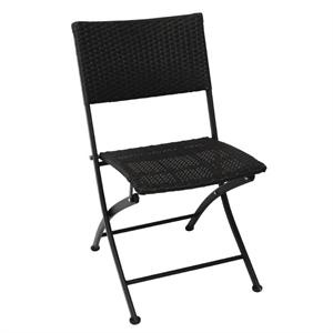 Opklapbaar rotan stoel (set van 2 )