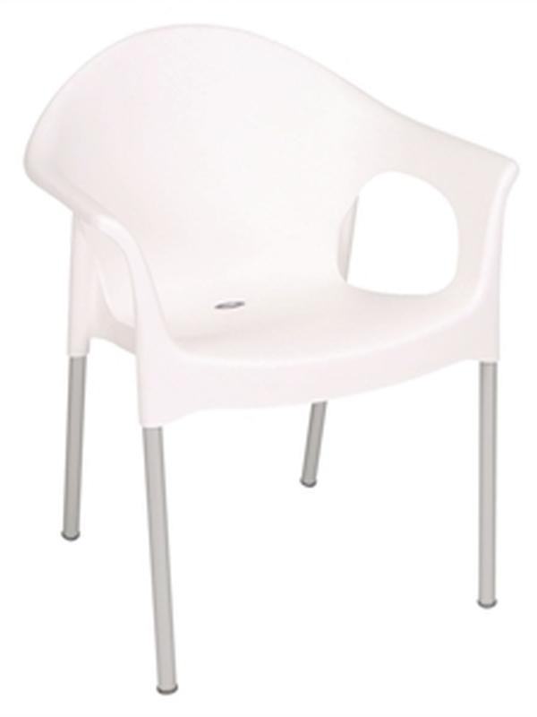 Stapelbare stoel met armleuning (set van 4)