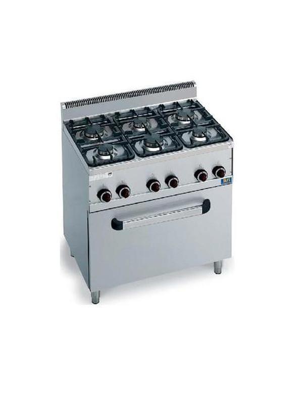 Gas Fornuis 6 branders met oven