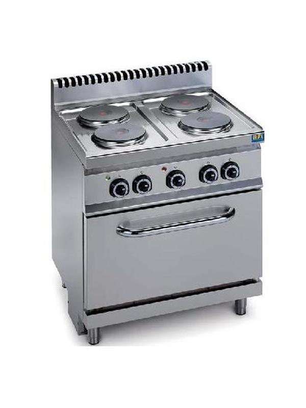 Fornuis met 4 platen en elektrische oven