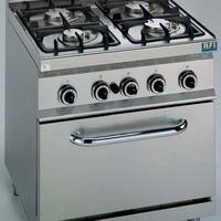 GAS 4 branders met oven