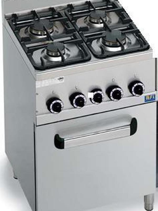GAS fornuizen 4 branders met oven