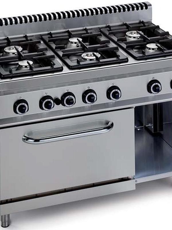 GAS 6 branders met oven