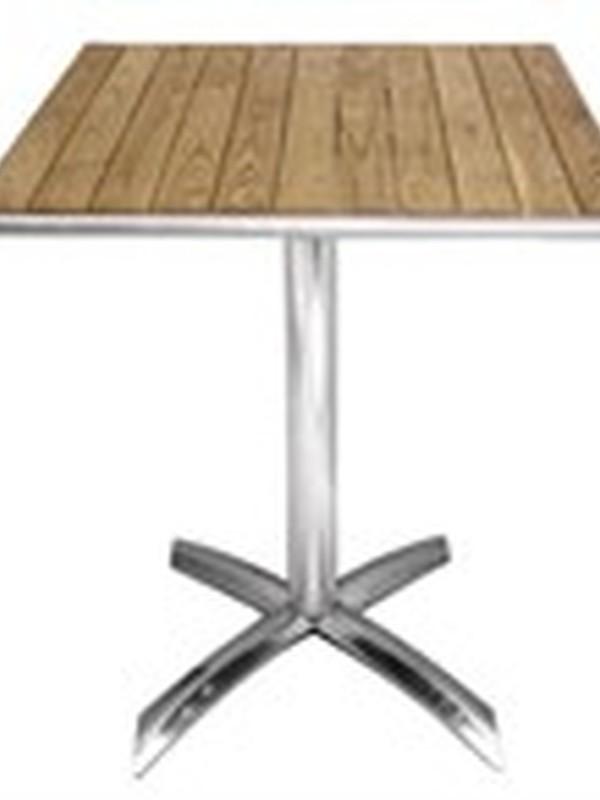 Essenhouten opklapbare bistrotafel vierkant 60cm