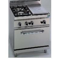 GAS fornuis 2 branders + 1/2 kookplaat op gasoven