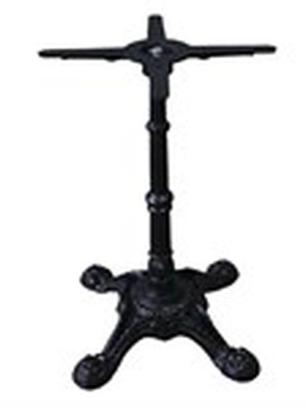 Gietijzeren tafelpoot/ 4-poot 72cm