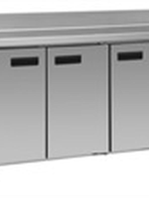 Werkbak Koeling/Vriezer 3 deuren met spatrand