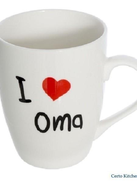 """Beker """"I LOVE OMA"""""""