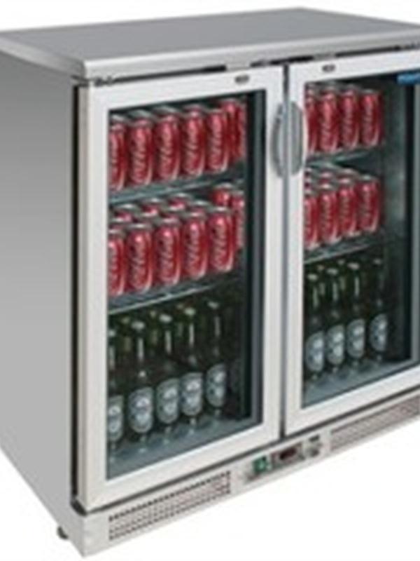 BAR koeling RVS dubbel/klapdeuren 180 flessen