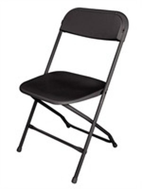 Opklapbare stoelen ZWART (10 stuks)
