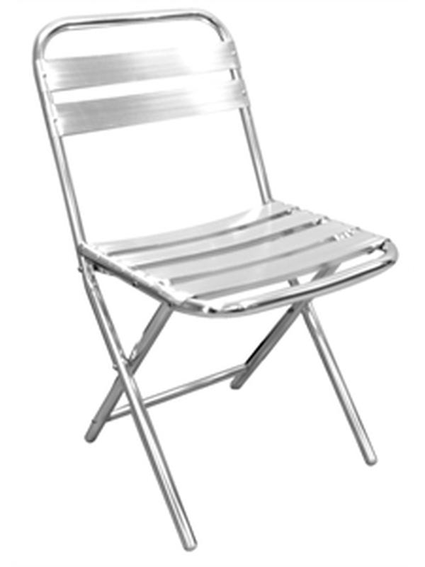 Aluminium stoel opklapbaar (4 stuks)