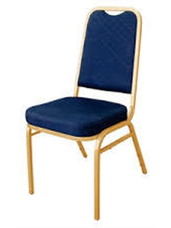 Banketstoel Rechte rug blauw