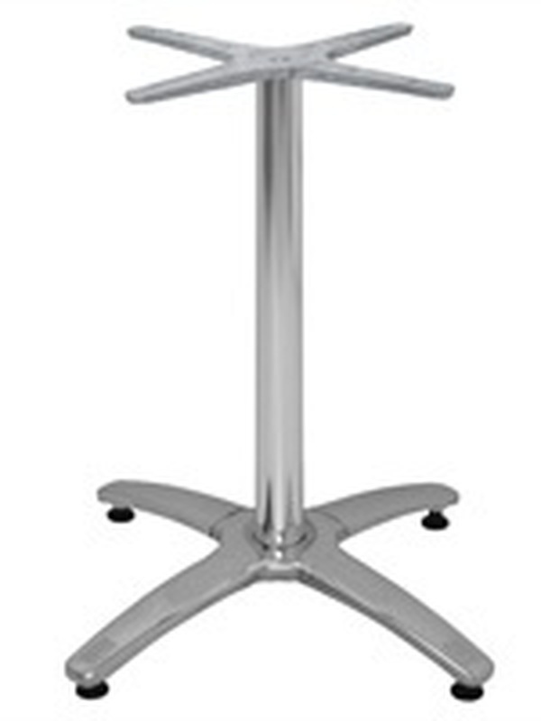 Aluminium tafelpoot/ 4-poot