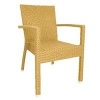 Rotan stoelen Naturel/met armleuning (4)