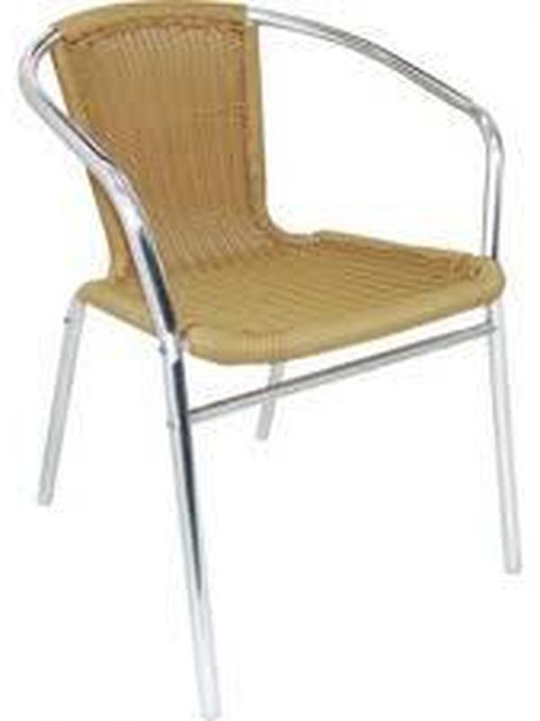 Stapelbare Rotan stoel/met armleuning Naturel (4)