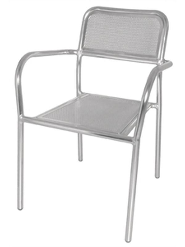 Aluminium stoel (set van 4)