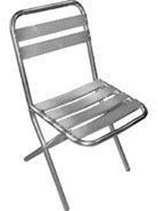 Aluminium opklapbare stoel (set van 4)