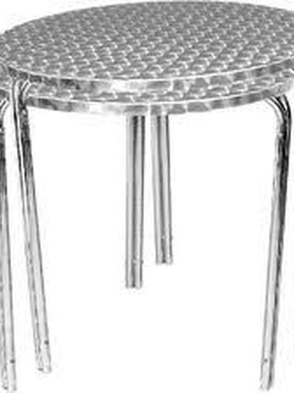 Stapelbare Bistrotafels / RVS tafels