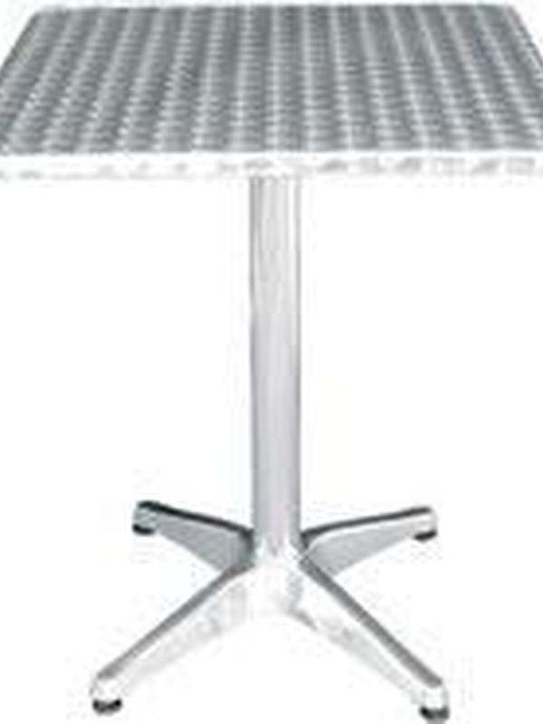 Vierkant RVS bistro tafel