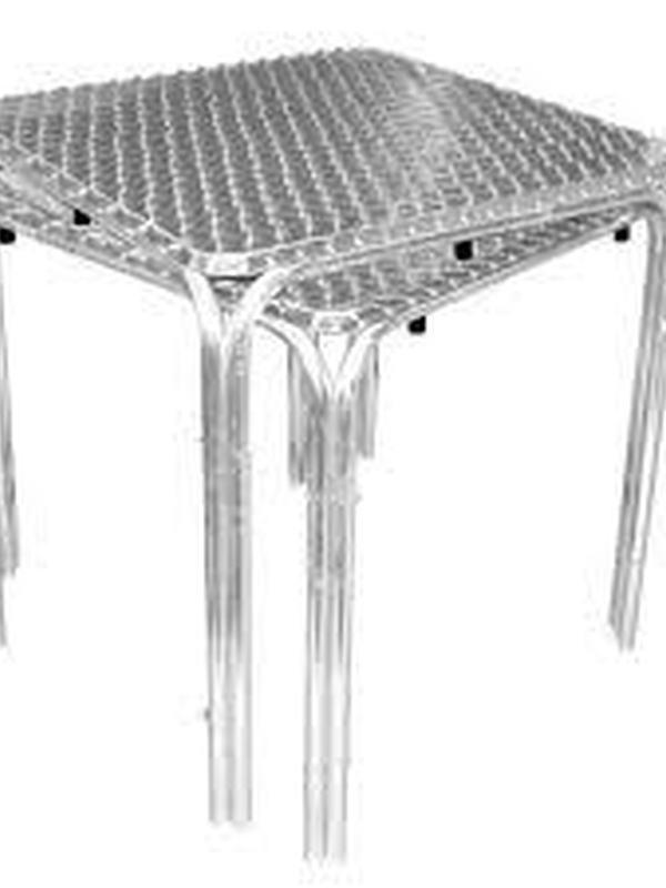 Stapelbare RVS bistrotafel