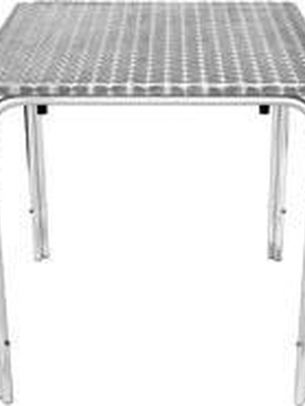 Stapelbare RVS tafel 60X60CM