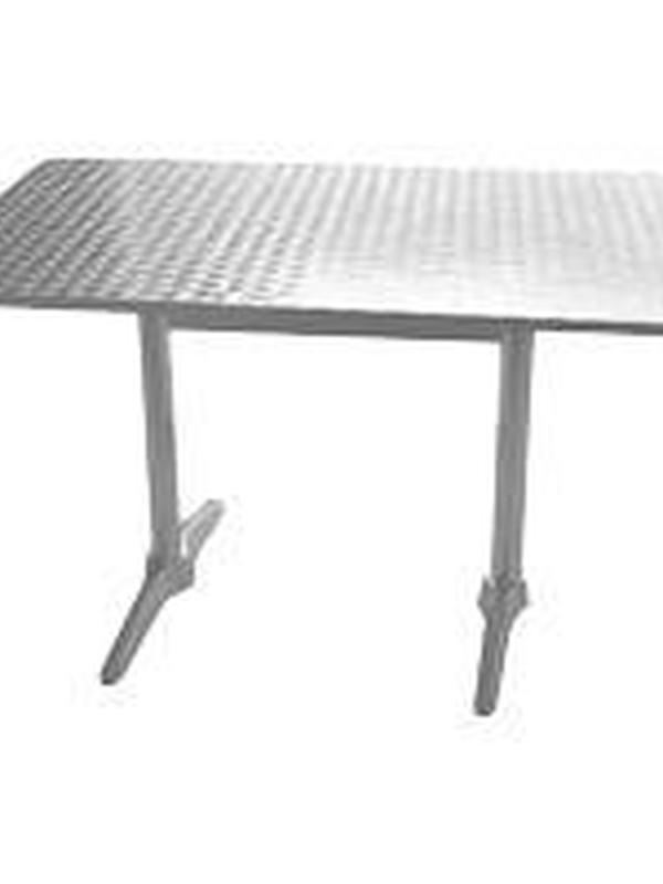 Rechthoekige RVS tafel