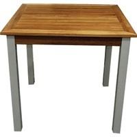 Teak/aluminium vierkante tafel