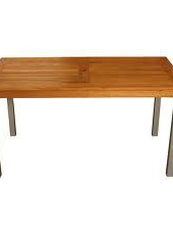 Teak/aluminium rechthoekige tafel