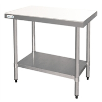 Snijtafel/ werktafel met polypropyleen snijplank