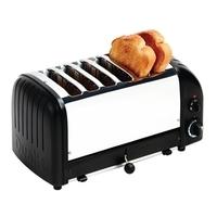 Broodrooster Dualit/Zwart, 6sleuven