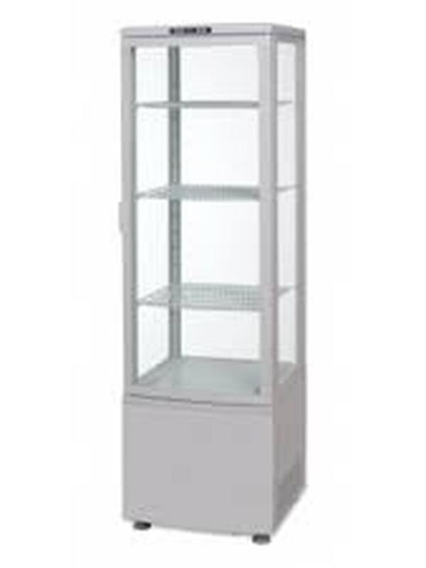 Koelvitrine met gebogen glasdeur 235ltr.